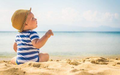 Brincar na praia e na piscina